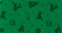 Vilt lapje met kerst print groen rendier slee 30 x 40 cm per lapje