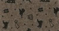 Vilt lapje met kerst print bruin gemeleerd rendier slee 30 x 40 cm per lapje
