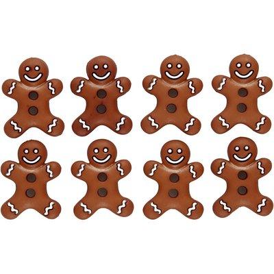 Knoopjes ginger bread poppetjes 8 stuks per zakje