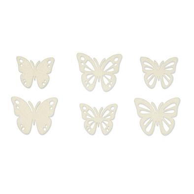 Vilt vlinders creme 6 stuks per zakje