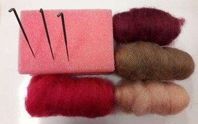 Starters pakket naald vilten roze mini