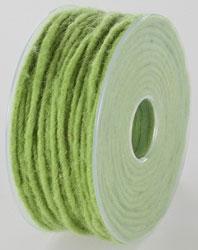 Wolkoord met ijzerdraad fel groen 5 meter per streng
