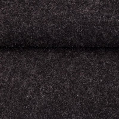 Vilt donker grijs gemeleerd 1,5 mm dik 90 cm breed per meter