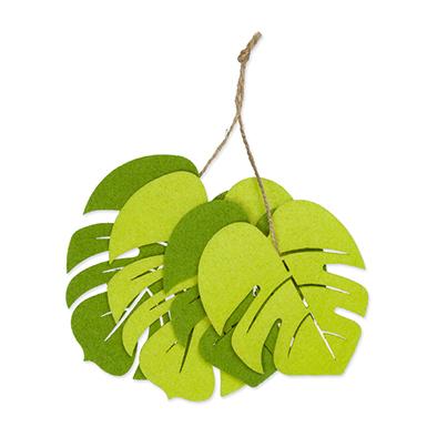 Vilt Bladeren Groen/Fel Groen 4 stuks