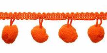 Bolletjes band oranje per meter