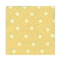 Vilt Print, Stippen, Pastel Geel/Crème