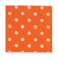Vilt Print, Stippen, Oranje/Wit