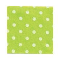 Vilt Print, Stippen, Lime Groen/Wit