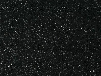 Glitter Vilt Grof, 20 x 30 cm, Zwart, 1mm dikte