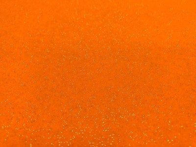 Glitter Vilt, 20 x 30 cm, Oranje, 1mm dikte