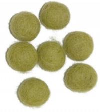 Viltballetjes 10MM Lime, 50 st. per zakje