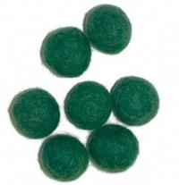 Viltballetjes 10MM Donker Groen, 50 st. per zakje