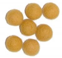 Viltballetjes 10MM Geel/Oker, 50 st. per zakje