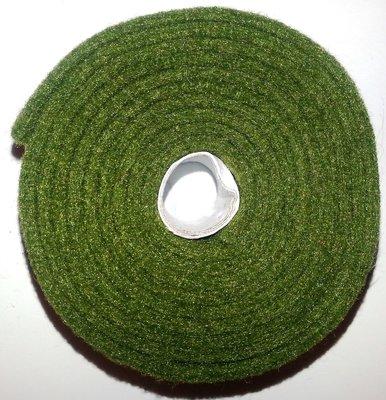 Vilt band op rol 4 cm breed 1,5 meter lang olijf