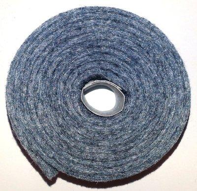 Vilt band op rol 4 cm breed 1,5 meter lang gemeleerd grijs