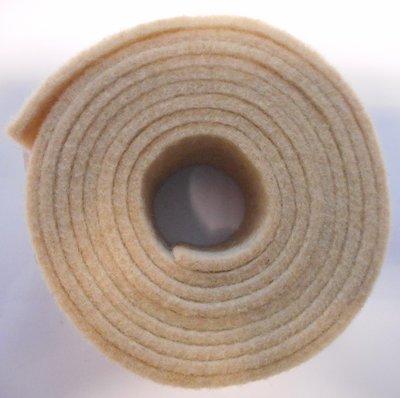 Vilt band op rol 2 cm breed 1,5 meter lang schelp