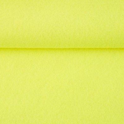 Vilt fluor geel 1,5 mm dik 90 cm breed per meter
