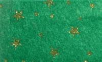 Vilt Print Kerst, Glitter sterren, Groen/Goud, 30 x 40 cm