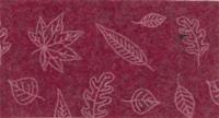 Vilt lapje rood met blaadjes print 30 x 40 cm per lapje