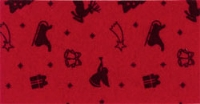 Vilt Kerst Print, Rood, 30 x 40 cm