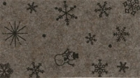 Kerst Vilt, Sneeuwpop, Bruin, 30 x 40 cm