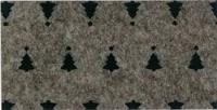 Vilt Kerstboom print, Bruin gemêleerd, 30 x 40 cm, 1mm dikte