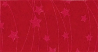 Vilt lapje met kerst print rood ster lijn 30 x 40 cm per lapje