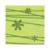 Vilt lapje met bloemetjes groen 30 x 40 cm 1 mm dik per lapje
