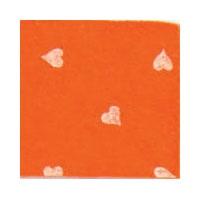 Vilt Print, Hartjes, Oranje
