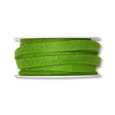 Vilt band 1 cm breed groen 5 meter op rol, per rol