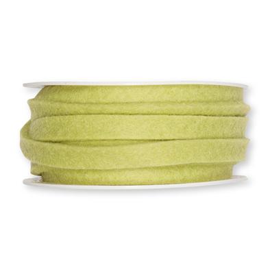 Vilt band 1 cm breed licht groen 5 meter op rol, per rol