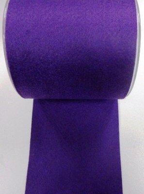 Vilt band 10 cm breed paars per meter
