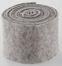 Wolband grijs gemeleerd 15 cm breed prijs per meter