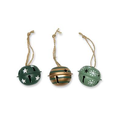 Kerstbellen, Mix Groen, 4 cm