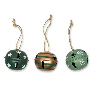 Kerstbellen, Mix Groen, 5 cm