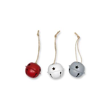 Kerstbellen Mix Rood, 3 cm