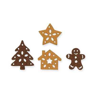 Vilten Gingerbread figuurtjes