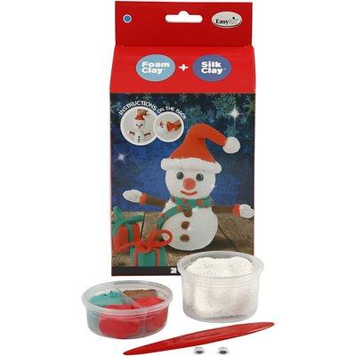 Doe het zelf pakket sneeuwpop silkclay