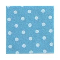 Vilt Print, Stippen, Blauw/Crème