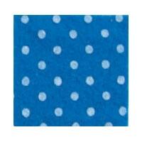 Vilt Print, Stippen, Midden Blauw/Wit