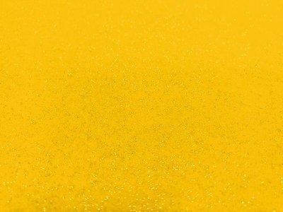 Glitter Vilt, 20 x 30 cm, Geel, 1mm dikte