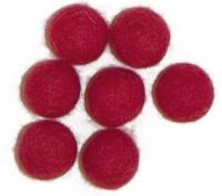 Viltballetjes 10MM Rood, 50 st. per zakje