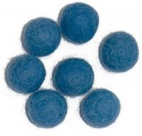 Viltballetjes 10MM Blauw, 50 st. per zakje