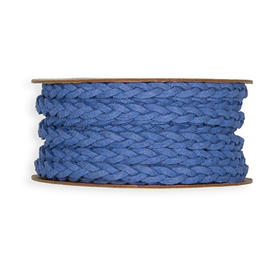 Leather Look Ribbon, Dusky Blue