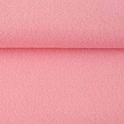 Vilt roze 1,5 mm dik 90 cm breed per meter