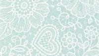 Vilt lap met kanten bloemen print licht blauw 30 x 40 cm per lap