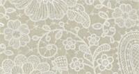 Vilt lap met kanten bloemen print bruin 30 x 40 cm per lap