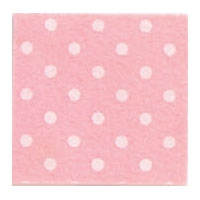 Vilt 3 mm dik licht roze met witte stippen 50 x 70 cm per lap