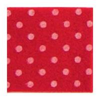 Vilt 3 mm dik fel rood met witte stippen 50 x 70 cm per lap
