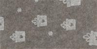 Vilt lapje beige met kadootjes print 30 x 40 cm per lapje